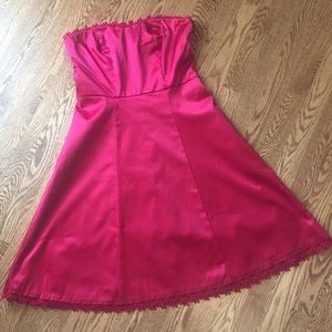 Merona Red Strapless Party Dress